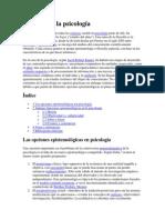 Filosofía de La Psicología. Historia de La Psicologia