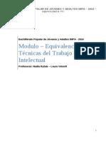 TTI - Equivalencias - 2014