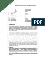 Gestión de Organizaciones y Emprendimiento