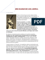 La Insoportable Levedad Del Voto Católico en España