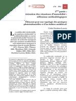 Duchêne-Lacroix, C. (2013). Caractérisation des situations d`inmobilité- réflexions métihodologiques. Éléments pour une typologie des pratiques plurirésidentielles et d`un habiter multilocal