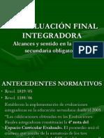 LA EVALUACIÓN FINAL INTEGRADORA.ppt