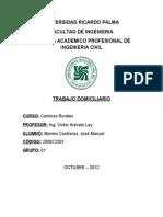 CV1012 - Caminos Rurales - Trabajo - Camino Rural Cajamarca