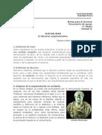 3º Medio Leng. Unidad Nº2 Textualidad El Discurso Argumentativo Guía Docente 2014