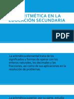 La aritmética en la educación secundaria.pptx