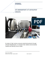 Environmental Assessment of Consumer Electronic Products