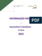Informações Prova - 2º ciclo - 2014