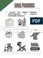 Personal Pronouns 2 Primaria