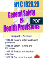 014 Osha Gen Safety and Health Provisions