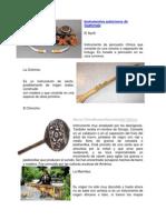 Instrumentos Autóctonos de Guatemala