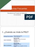 Preguntas Frecuentes PSU