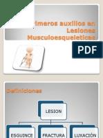 Primeros auxilios en Lesiones Musculoesquéleticas