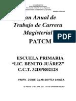 Plan Anual de Trabajo de Carrera Magisterial CICLO 2012-2013 JORGE