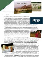 Ross and Taya Prayer Letter // 8.23.2007