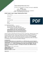 Solage Reservation Form