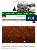 Proof That Group Meditation Can Change the World ‹ Truthseekerdaily