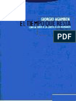 Agamben Giorgio - El Tiempo Que Nos Resta. Comentario a La Carta a Los Romanos - Trotta 2006
