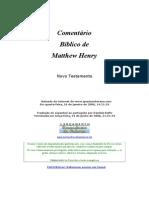 Matthew Henry - Comentário Bíblico NT