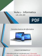 Aula 1 - Informatica:LEI, LEA, GEI