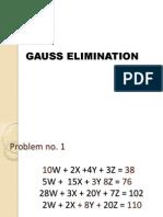 Gauss Elimination