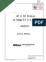 Nikkor 18-55mm lens repair manual