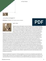 John Dewey _ Pedagogía