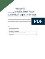 Como Realizar La Configuración InterVLAN Con Switch Capa 3 o Router