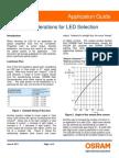 Optical Considerations for LED SelectionWEB