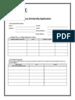2014 Student Scholarship Application