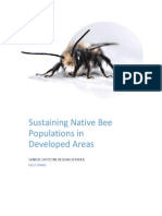 conserving native bee populations in developed areas final