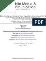Mobile Media & Communication 2014 Chib 73 93