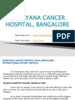 Narayana Cancer Hospital India, Bangalore - International Patient Services