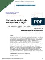 Síndrome de Insuficiencia Androgénica en La Mujer