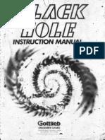 Gottlieb Black Hole Instruction Manual