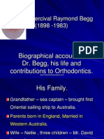 Biographical Account of Dr BEGG-OrTHO / orthodontic courses by Indian dental academy