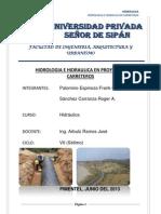 Trabajo Completo Hidrologia e Hidraulica en Proyectos Carreteros