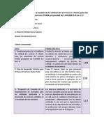 Auditoria Del Servicio Al Cliente.
