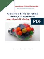 Innovations in 21st Century Education - Seminar note