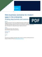 Nine Business Scenarios for Modern Apps in the Enterprise