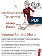 organizational behaviour concepts in the devil wears prada While there are many movies that are directly relatable to management and organizational behavior the devil wears prada hi all below is a summary of concepts.