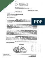 Pedido Congresista Mendoza