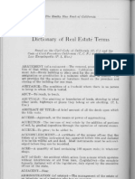Real Estate Dictionary Historic 1924