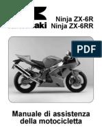 Kawasaki ZX6R 636 -ZX6RR 600 Ninja 03-04 Manuale Officina
