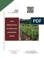 Catalogue_réservations Automne 2014
