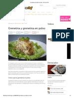 Grenetina y Grenetina en Polvo