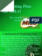 Milo Marketing Plan- by Abuden