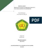Proposal Asuhan Keperawatan Post Op Apendiksitis Kku
