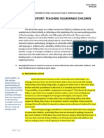 edfd112 children at risk at3 reflective report- teaching vulnerable children