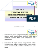 Modul 2. Peranan Kultur Mikroorganisme Dalam Pengolahan Pangan