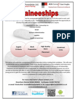 Traineeship Flyer